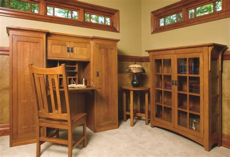 mission style desks for home office mission style white oak office furniture craftsman