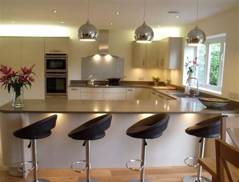 kitchen island bar designs u shaped kitchen designs with breakfast bar interior
