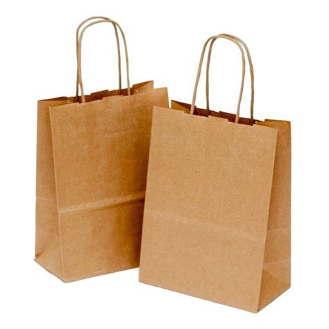 bag with brown kraft paper gift bags with handles candle