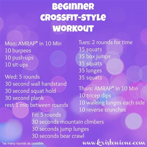 at home for beginners beginner crossfit style workout kristen ione