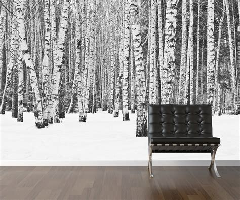 Cheap Wall Murals Wallpaper birch tree wallpaper repositionable peel amp stick wall paper