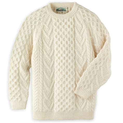 how to knit aran sweater the genuine knitted aran sweater hammacher schlemmer