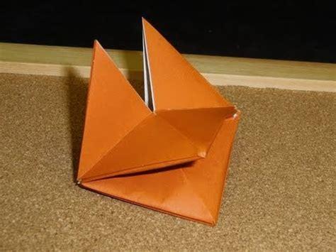 origami fox puppet origami puppet tutorial doovi