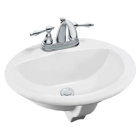 Bathroom Sink Overflow by Tierra Drop In Bathroom Sink In White 85400 The Home Depot