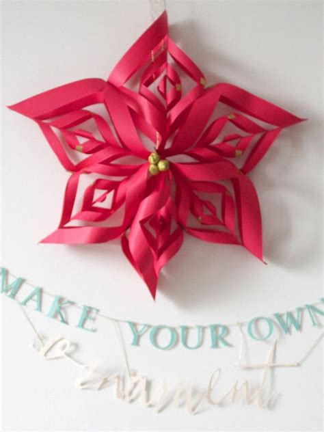 easy to make decorations at home make a paper snowflake ornament hgtv