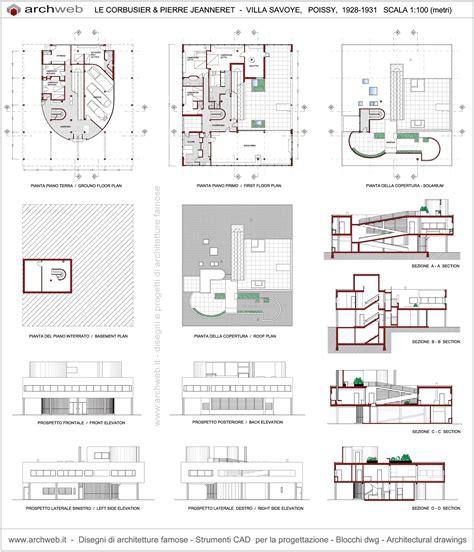 savoy floor plan villa savoye plan drawings