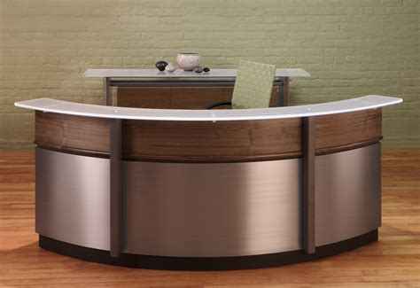 metal reception desk circular reception desk modern reception desks