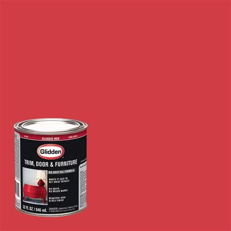 home depot paint quart glidden trim and door 1 qt classic gloss interior