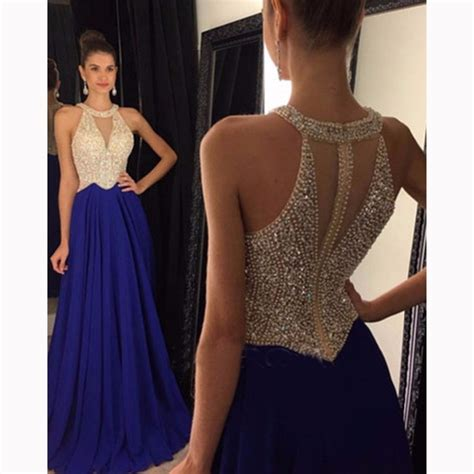 beaded tops for evening wear plus size top quality s halter beaded blue evening dresses
