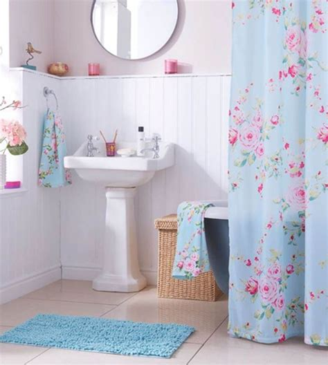 pink and blue bathroom accessories best 20 floral shower curtains ideas on navy