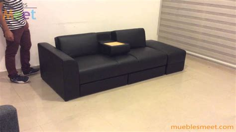 sofa cama con cajones sofa cama con cajones y mesa demostracion muebles meet