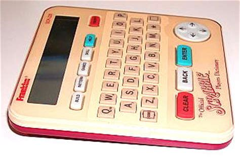 scrabble electronic dictionary franklin official scrabble player s dictionary review