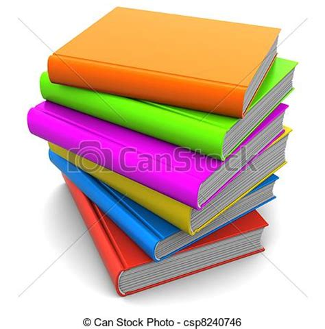 book of pictures illustration de livres pile 3d illustration de