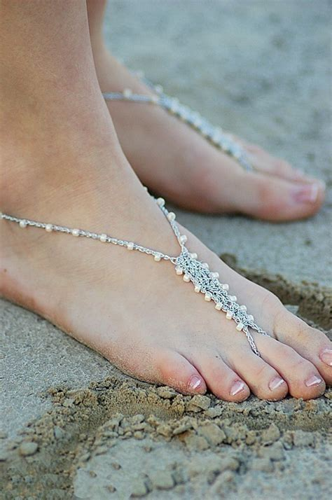 how to make barefoot sandals jewelry barefoot sandals foot jewelry size 5 6 anklet by