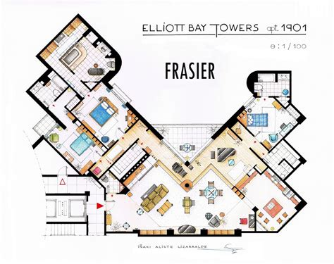 frasier floor plan frasier s apartment floorplan v2 by nikneuk on deviantart