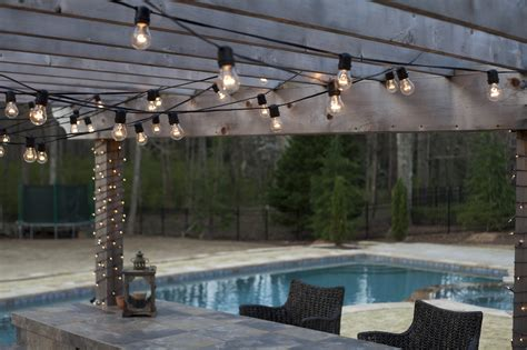 outdoor hanging lights patio hanging patio string lights a pattern of perfection