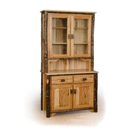 rustic china cabinet rustic hickory and oak
