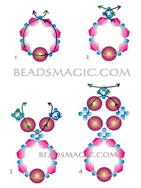 free earring patterns seed schema for earring dangle seed bead tutorials seed
