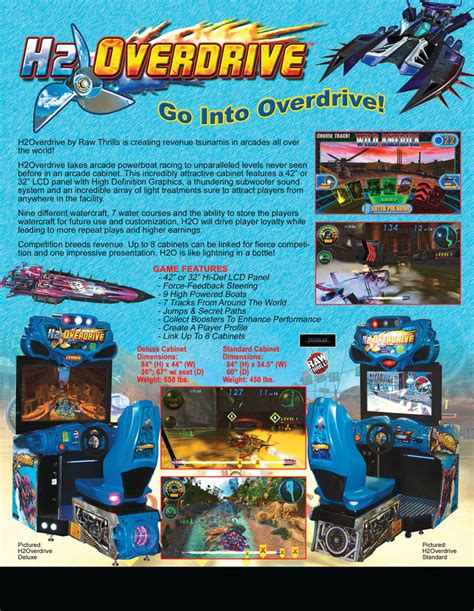 Home Design Game the arcade flyer archive video game flyers h2 overdrive