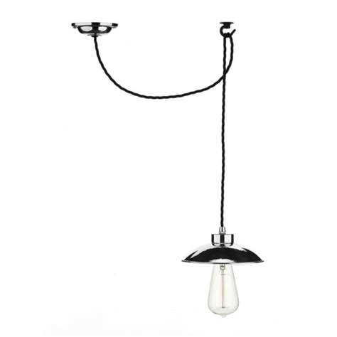 pendant light ceiling hook industrial style hanging ceiling pendant in chrome with