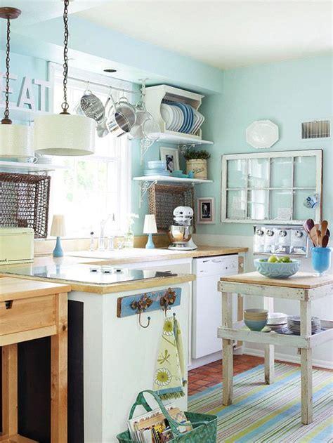 ideas for small country kitchens designs color blue small 7 idee estive e creative per una cucina shabby chic