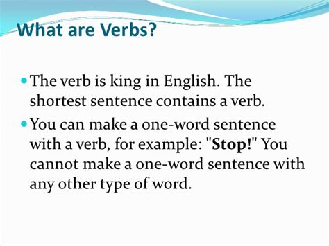 what are what are verbs