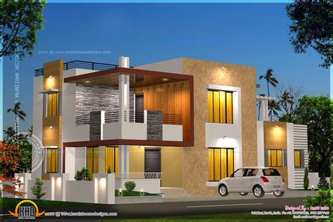 modern house plan floor plan and elevation of modern house kerala home design and floor plans