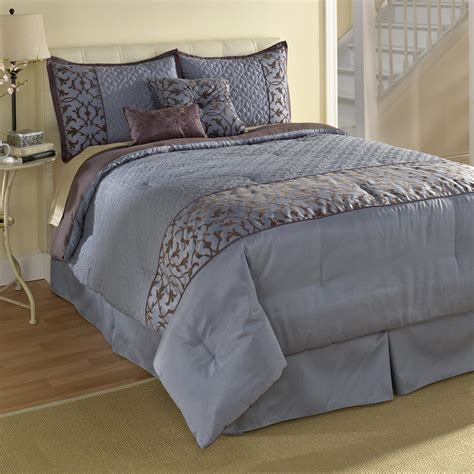 smith comforter sets smith blue scroll comforter set home bed bath