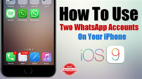 how to on iphone how to use two whatsapp accounts on your iphone without