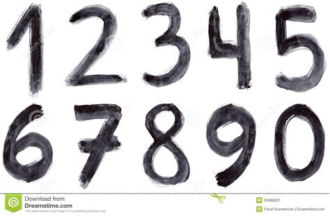 spray paint font numbers grunge numbers stock image image 34388221