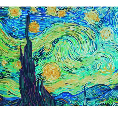 paint nite number paint by numbers the starry schipper from