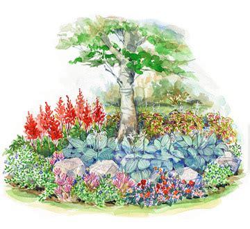 small flower garden plans small space shade garden plan
