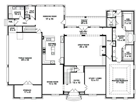 4 story house plans one story house plans with 4 bedrooms