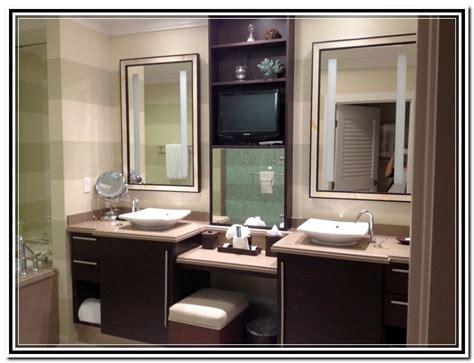 built in bathroom makeup vanity home design ideas