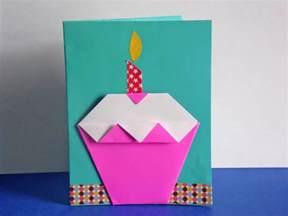 origami cupcake easy diy origami cupcake birthday card