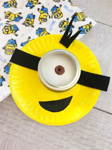 minion craft projects minion paper plate craft for easy rainy day activity