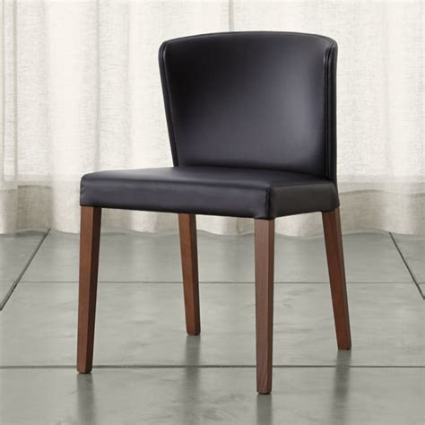 and black dining chairs black leather dining room chair plushemisphere