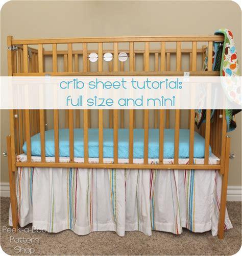 crib sheet tutorial peek a boo pages