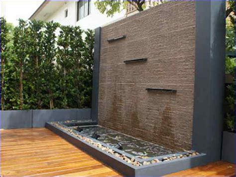 backyard feature wall ideas outdoor wall water feature ideas home design ideas