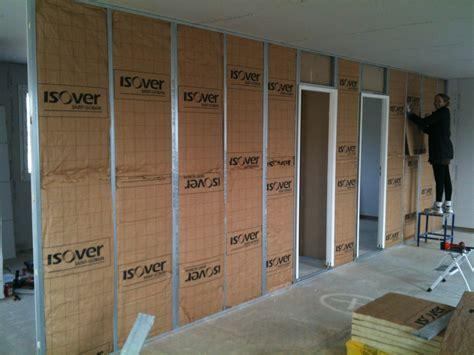 isolation plafond garage sous sol 12 cloison placo couloir et chambres le de la maison