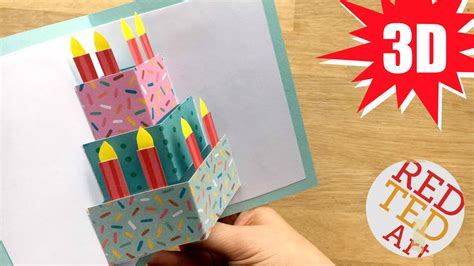 make birthday greeting card easy pop up birthday card diy ted s