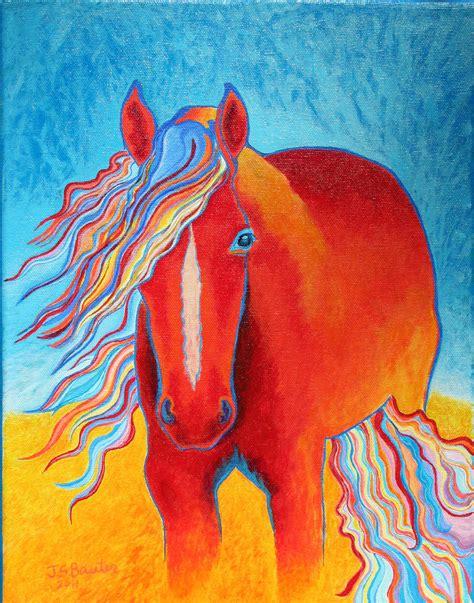 acrylic painting sale etsy sale horses in acrylic painting on by animalartbyjodi