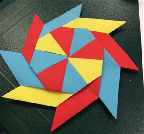 how to make a origami pinwheel origami octagon pinwheels if then creativity