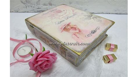 decoupage book decoupage tutorial diy how to decorate a book treasure