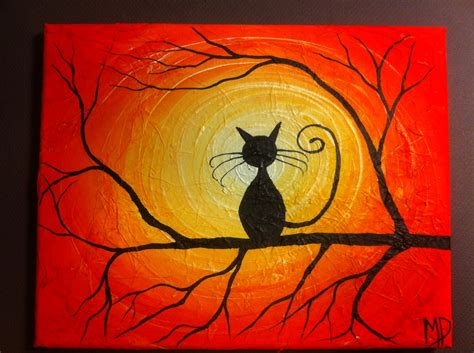 simple cat painting ideas cat painting what can i see 8 x 10 acrylic by michaelhprosper