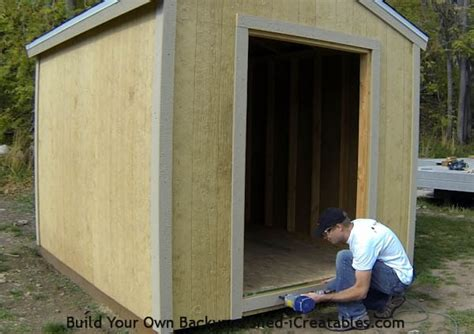 how to trim an exterior door shed trim how to install shed trim icreatables