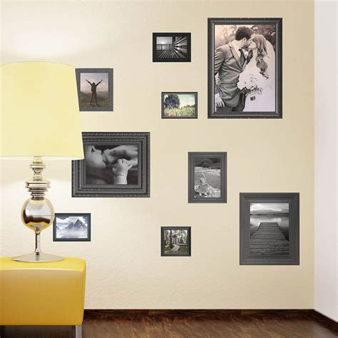 Photo Frame Wall Stickers black photo frames wall stickers by the binary box