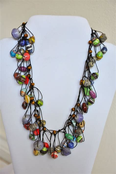 paper bead jewelry pin by diane lammers on paper fabric