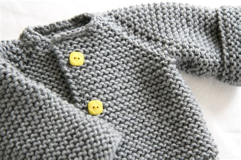 easy knitted baby sweater patterns free the raglan crew neck cardigan by knits free