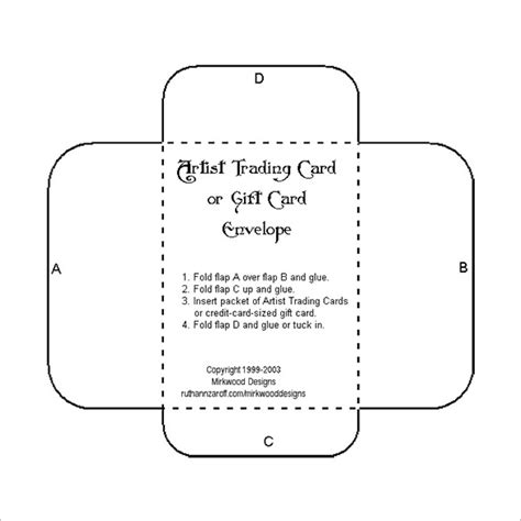 envelope templates for card 10 gift card envelope templates free printable word